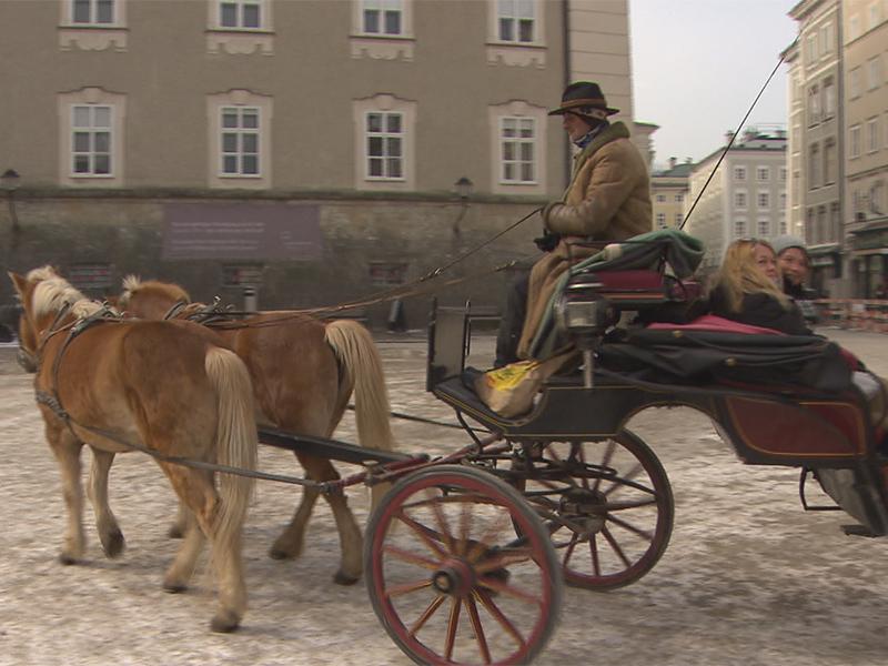 Fiaker in der Stadt Salzburg