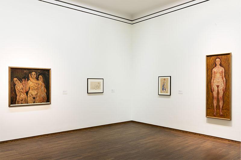 """Ausstellungsansicht """"Egon Schiele, 2018 © Leopold Museum, Wien/Foto: Lisa Rastl"""