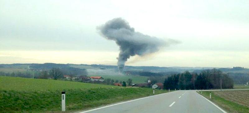 Großbrand in Reiterhof in Lambrechten im Bezirk Ried