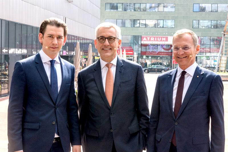Sebastian Kurz, Ulrich Spiesshofer, Thomas Stelzer