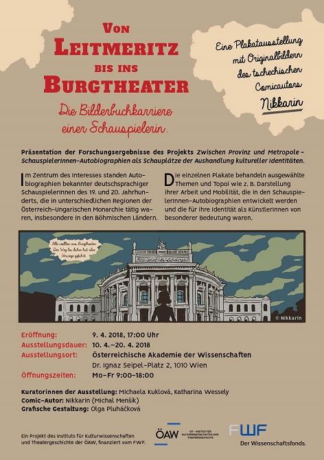 Plakatausstellung Von Leitmeritz bis ins Burgtheater