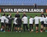FC Salzburg beim Abschlusstraining in Rom