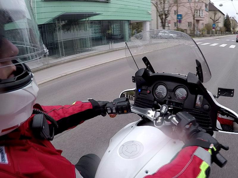 Rotes Kreuz Motorräder