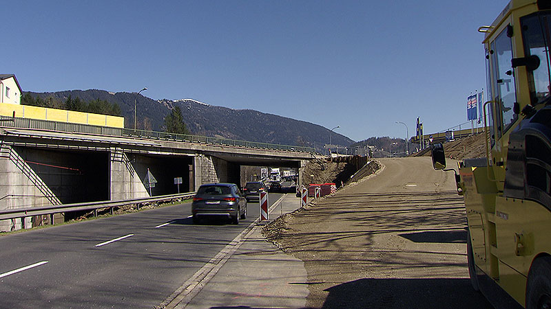 Bauarbeiten Seebachbrücke Villach