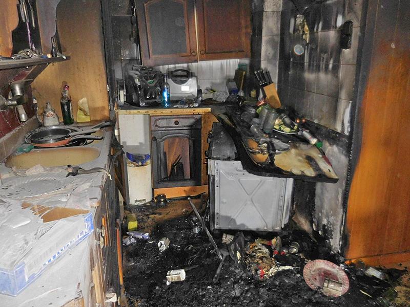 Küchenbrand in Leoben