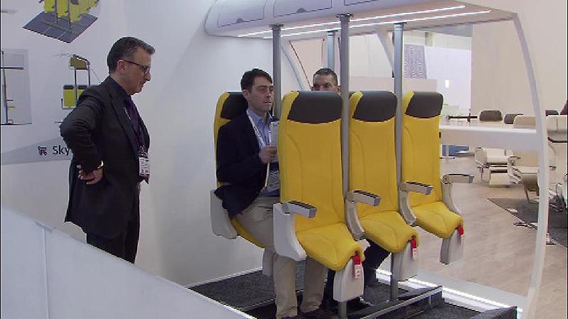 Innenraum einer Flugzeugkabine