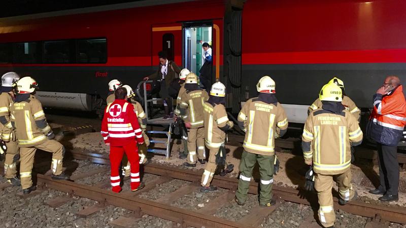 Evakuierung Zug Landeck