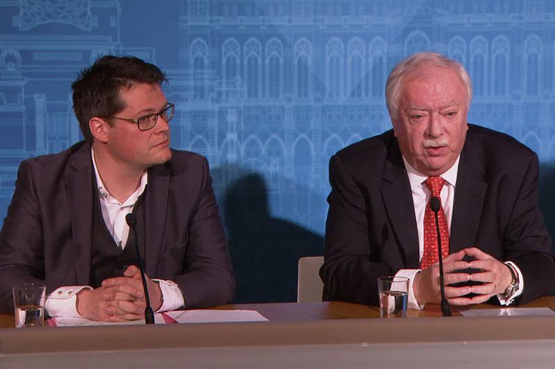 Jürgen Czernohorszky und Michael Häupl