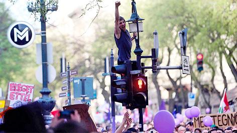 demonstráció budapesten az új kormány ellen