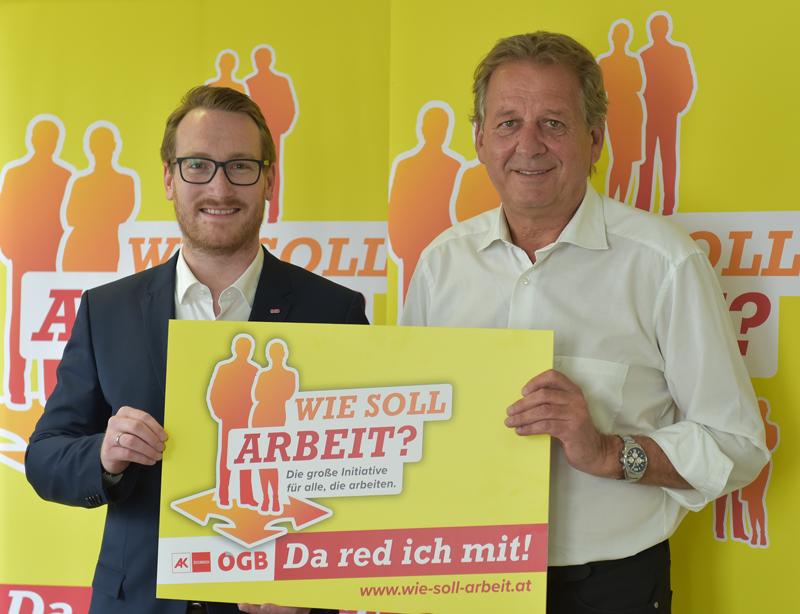 AK Präsident Erwin Zangerl und ÖGB Vorsitzender Philip Wohlgemuth