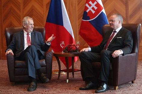 Prezidenti Andrej Kiska a Miloš Zeman