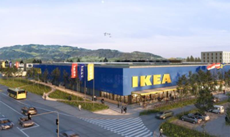 So hätte IKEA Lustenau ausgesehen