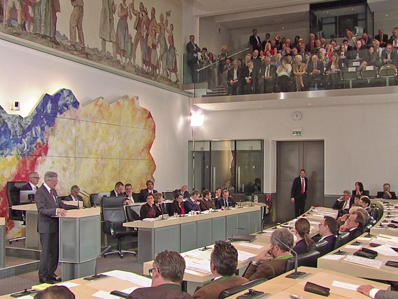 Konstituierende Landtagssitzung Übertragung live Angelobung