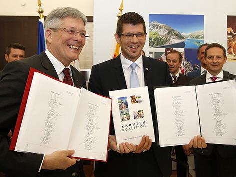 Koalicija koalicijska vlada podpisana pogodba SPÖ Kaiser ÖVP Gruber
