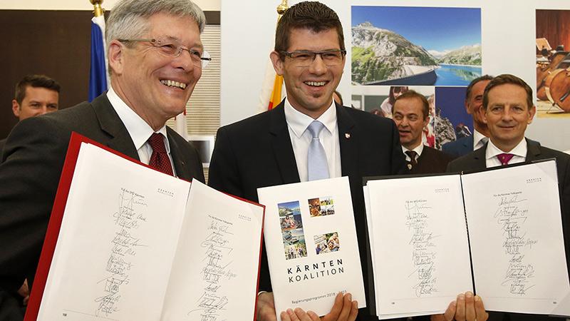 Koalition SPÖ und ÖVP unterzeichnet