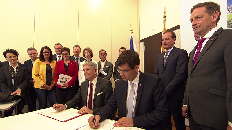 Koalition SPÖ und ÖVP Unterschrift