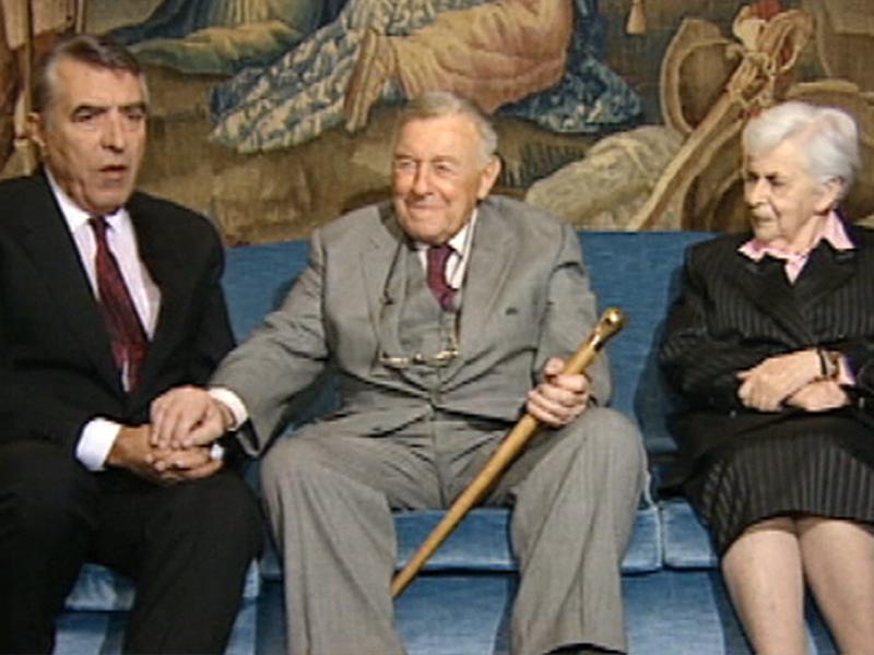 Helmut Zilk mit Teddy Kollek und Tamar Schwarz