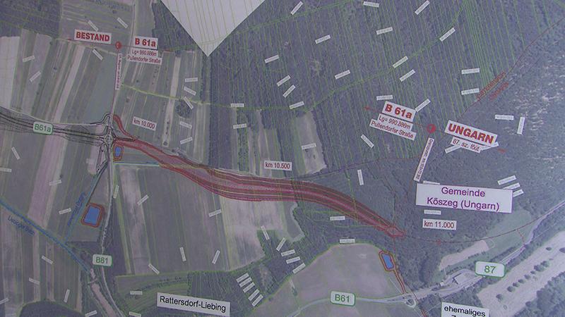 Plan für letzten Kilometer der B61a