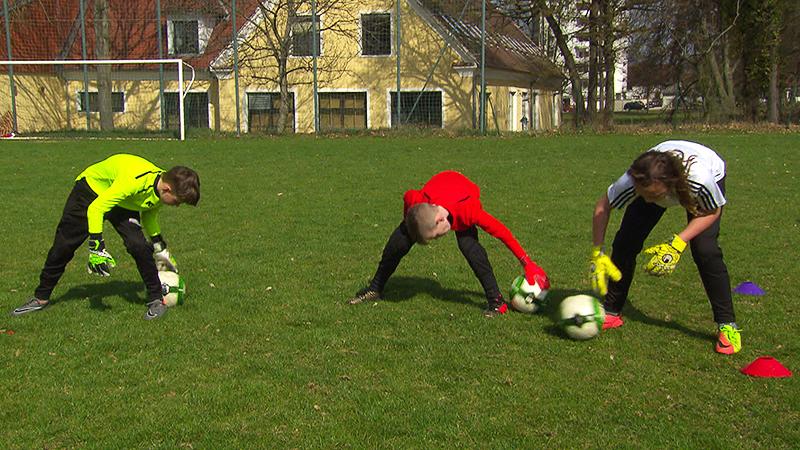 Training im Rahmen der Tormannschule