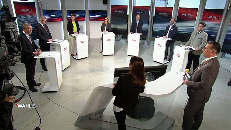 Spitzenkandidaten Landtagswahl 2018 im Studio Salzburg