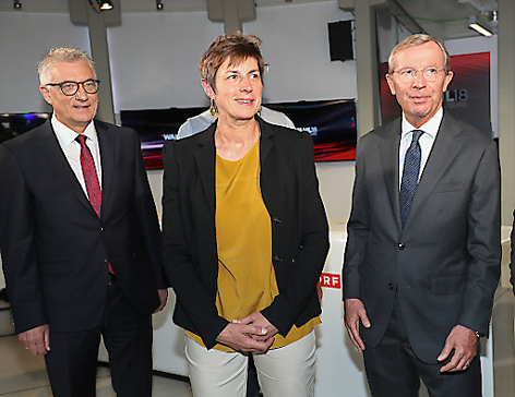Wilfried Haslauer, Walter Steidl, Astrid Rössler