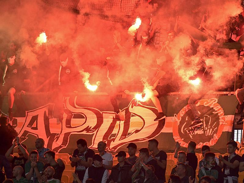 Fußball und Feuer Staditon