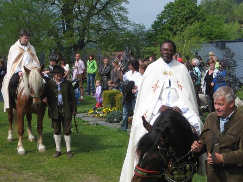 Pfarrer von St.Georgen beim Georgiritt