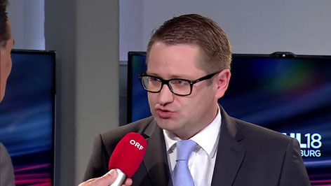 Gerd Schneider mit Wolfgang Mayer, ÖVP