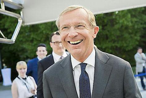 Strahlender Sieger Wilfried Haslauer