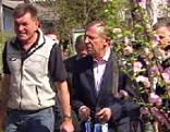 Wilfried Haslauer auf Wahlkampf in Gärtnereien