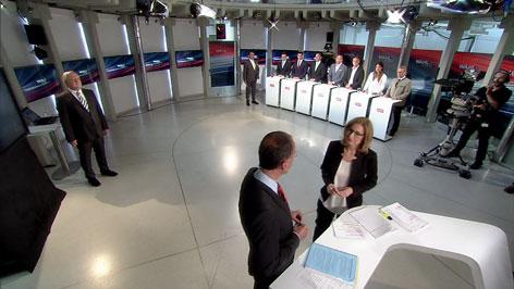 Live aus der ORF Wahlzentrale