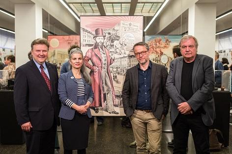 Dr. Michael Ludwig, Lilli Bauer, P. M. Hoffmann, Dr. Wolfgang Maderthaner  Waschsalon Karl-Marx-Hof