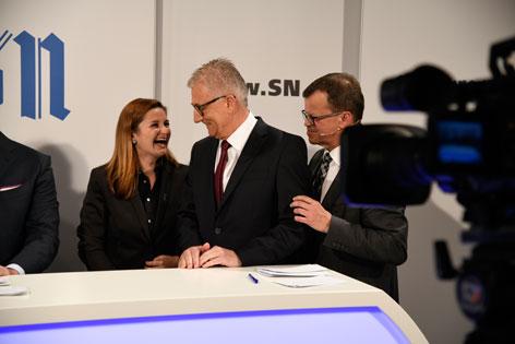 Spitzenkandidaten Marlene Svazek, Walter Steidl, ORF Wahlzentrale