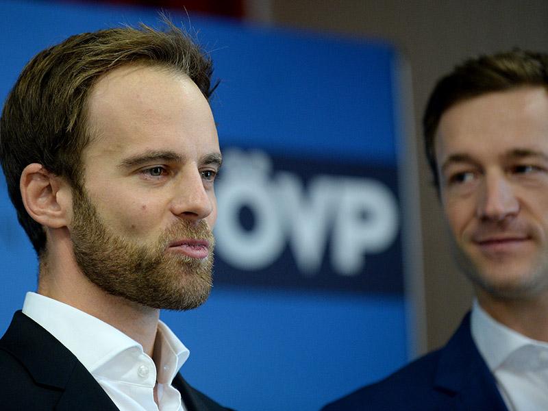 ÖVP Wien Landesgeschäftsführer arkus Wölbitsch und Landesparteichef Gernot Blümel.