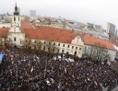 Versammlung Za slušné Slovensko in Bratislava 15.4.2018