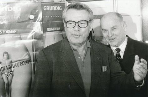 Miloš Forman a Theodor Pištěk