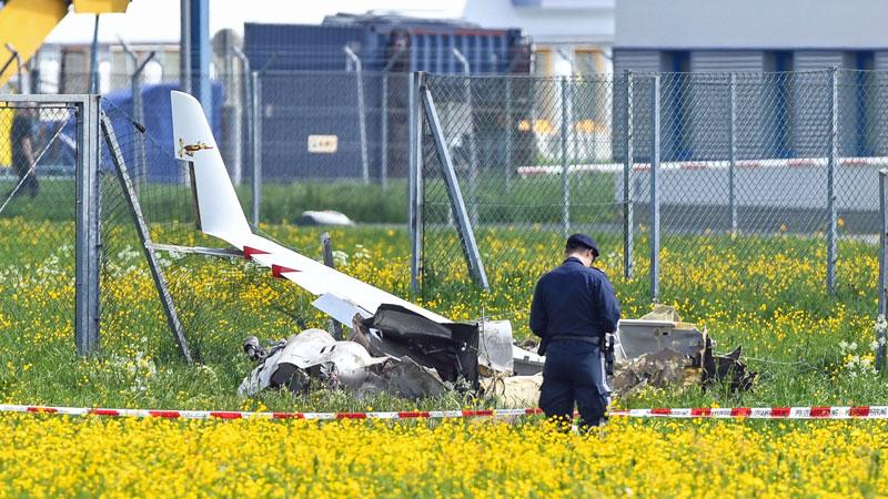 abgestürztes Motorflugzeug in Innsbruck