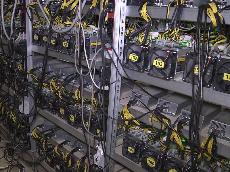 Rechenzentrum Rechner Kabel