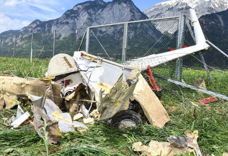 abgestürztes Motorflugzeug Innsbruck