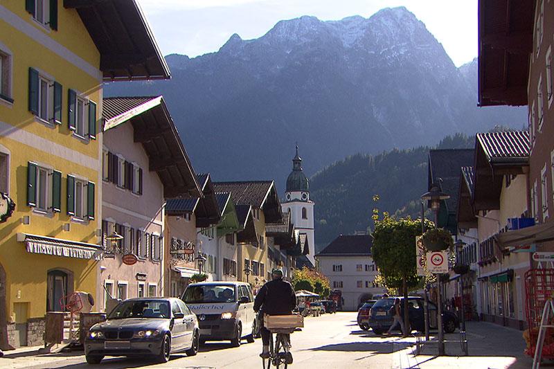 Der Marktplatz von Kuchl (Tennengau)