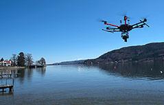 Drohne über dem Wöthersee