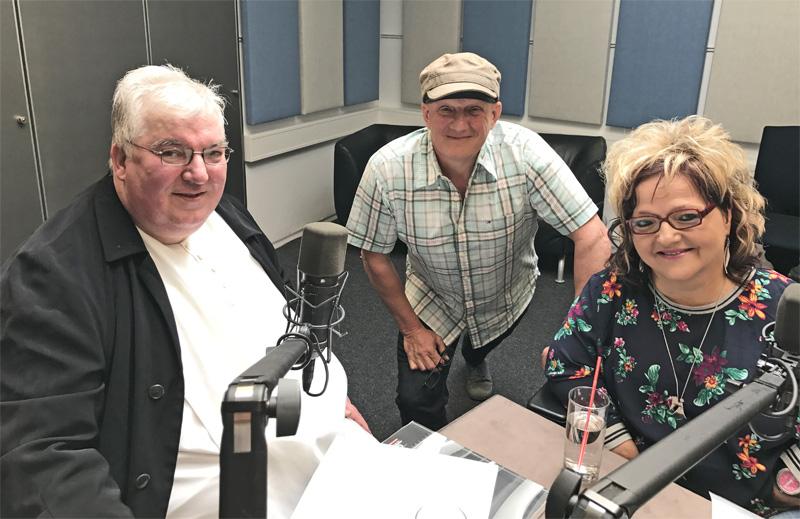 Martin Riederer mit Rainer Perle und Marianne Hengl