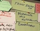 Post its mit Ideen der Bürgerinnen und Bürger