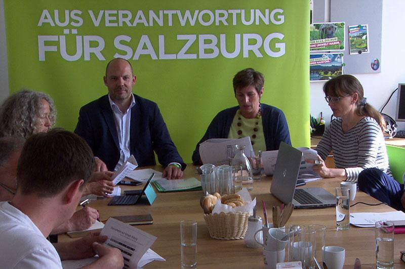 Landesparteivorstand der Grünen mit Astrid Rössler