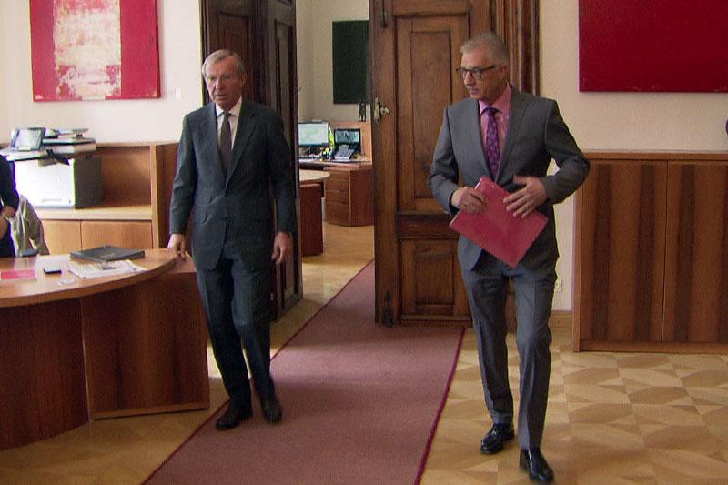 Wilfried Haslauer und Walter Steidl