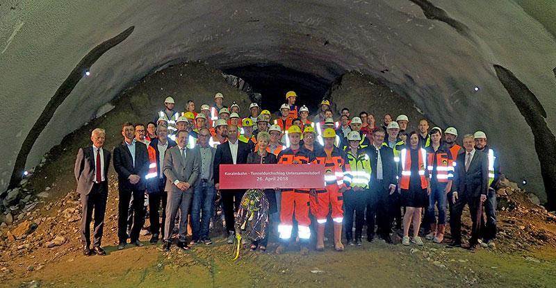 Koralmbahn Tunnel Untersammelsdorf Durchstich