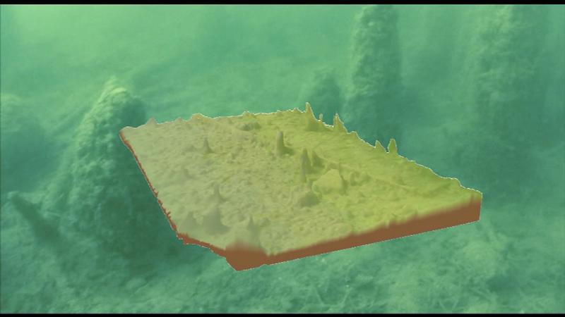 Unterwasserroboter, Aufzeichnung Pfahlbauten Mondsee