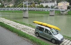 Kajak Kajaktour Kraftwerk Lehen Stadt Salzburg Salzach