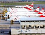 AUA-Flugzeuge am Flughafen Wien