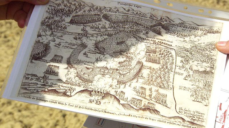 Karte der Schlacht von Mogersdorf